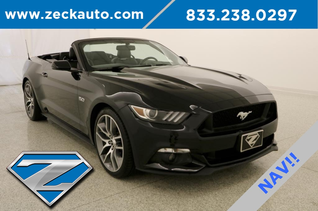 Pre Owned 2015 Ford Mustang Gt Premium 2d Convertible In Leavenworth