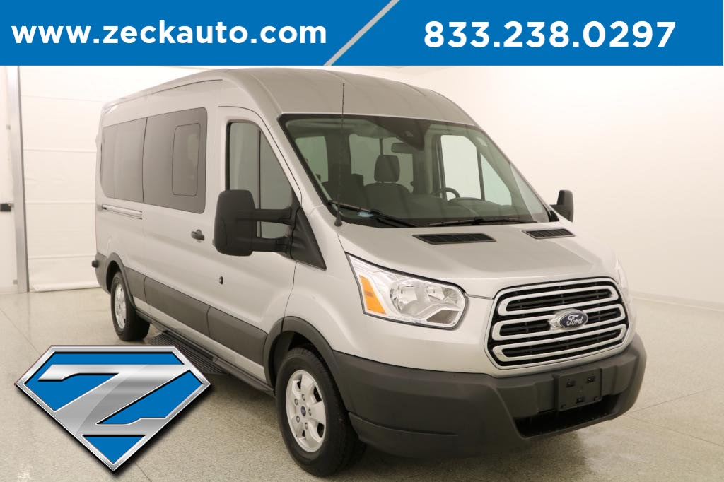 86ad7443b8 Pre-Owned 2018 Ford Transit-350 XLT Medium Roof 15 Passenger Wagon ...