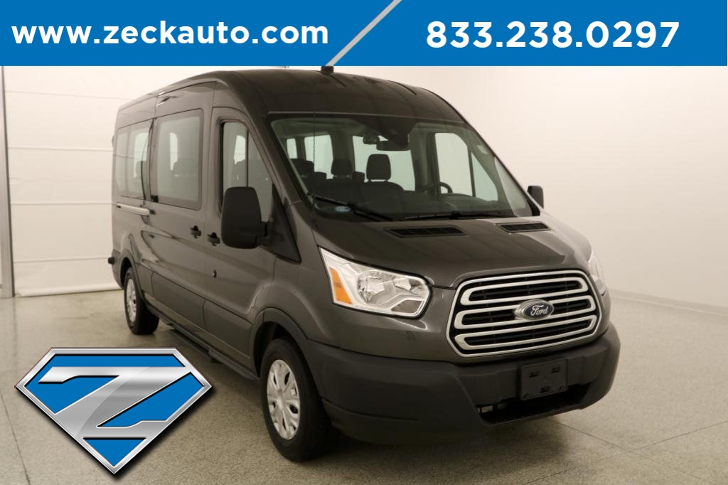 Pre Owned 2017 Ford Transit 350 Xlt Medium Roof 15 Penger Wagon