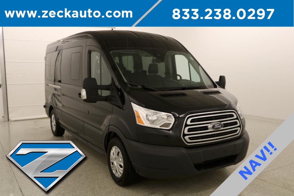 efab40c33d Pre-Owned 2015 Ford Transit-350 Handicap Conversion XLT Medium Roof 8  Passenger Wa